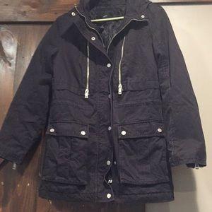 Forever 21 black winter coat size L
